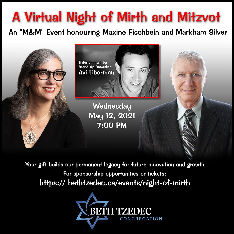 A Virtual Night of Mirth and Mitzvot